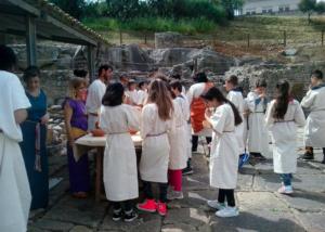 Laboratorio didattico a scuola con i romani